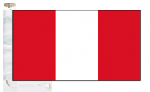 Peru Civil (Merchant) Ensign Courtesy Boat Flags (Roped and Toggled)